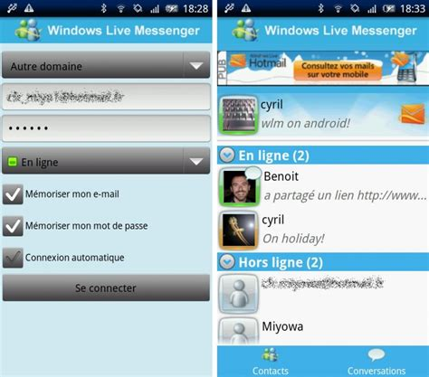android messenger windows live messenger para android
