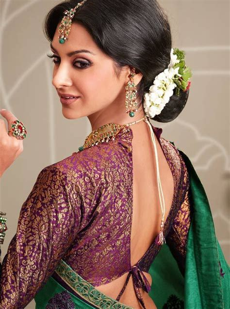 Latest Fashions Updated: saree blouse with collar