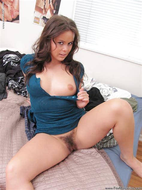 Foxy Brunette Cutie Kaci Starr Exposing Her Ample Ass And