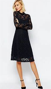 navy blue long sleeve lace cocktail dress asos wedding With cocktail dress for wedding guest