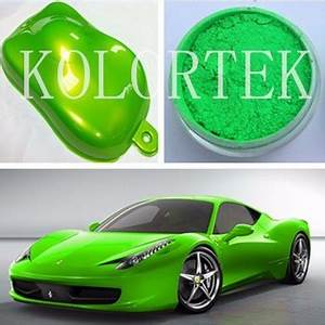 Custom Neon Auto Paint Pigment Neon Green Color Powder