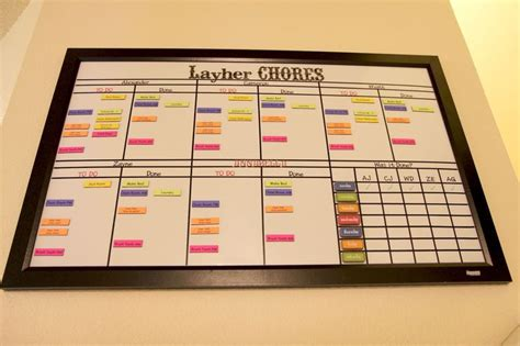 magnetic chore charts  multiple children dry erase