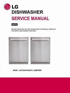 Lg Ldf7932st Dishwasher Service Manual  U0026 Repair Guide