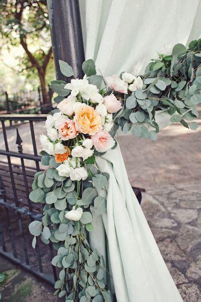 flower swag  eucalyptus  fresh flowers  drape