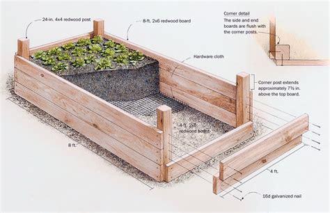 High Resolution Raised Bed Vegetable Garden #9 Build