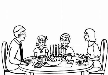 Coloring Passover Meal Pages Celebrating Christmas Eating