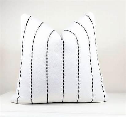 Pillow Stripe Modern Pillows Farmhouse Textured Checkout