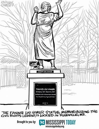 Lou Hamer Fannie Statue Mississippi