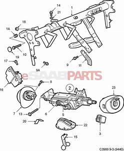 2004 saab 9 3 steering diagram saab auto parts catalog With saab key diagram