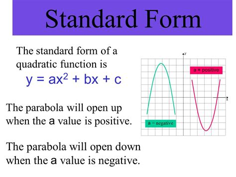 find standard form equation parabola parabola conic section ppt download