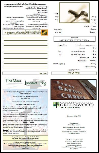 church bulletin layouts greenwood bulletin order