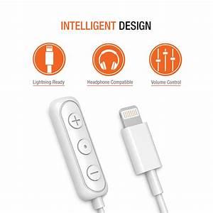 Iphone Lightning To 3 5mm Headphone Jack Hifi Adapter  U2013 White