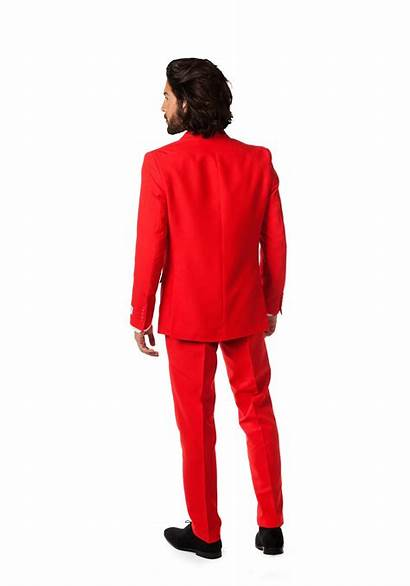 Suit Mens Opposuits Traje Rojo Fun 1891