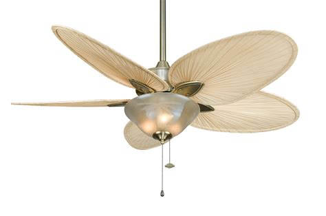 White Palm Leaf Ceiling Fan Blades by Ceiling Fan With Palm Leaf Blades Sweet Home