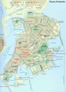 China Macau Peninsula Map