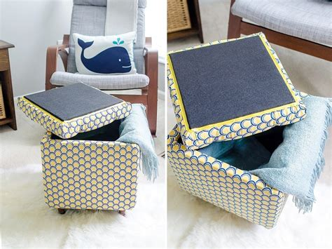 Diy Tutorial How To Make A Diy Storage Ottoman Part 2