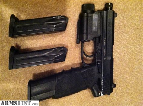 hk usp 45 laser light armslist for sale hk 45 usp tactical with threaded