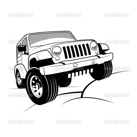 cartoon jeep front jeep off road clipart clipart suggest