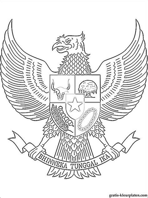 Kleurplaat Indonesie kleurplaat wapen indonesi 235 gratis kleurplaten