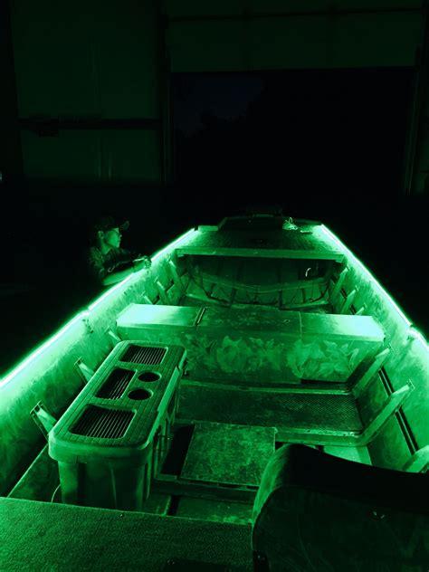 Green Led Loading Lights Duck Boats Boat