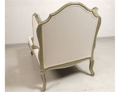 deck chair louis xv carved lacquered wood duchess broken