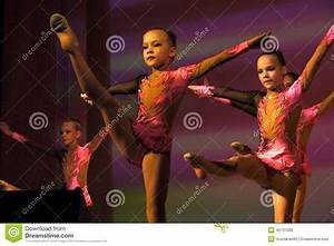 Nadym, Russia - 7 December 2012: Unknown Girls Gymnasts ...