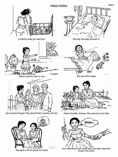 Helen Keller Worksheets Story Grade Lesson Words