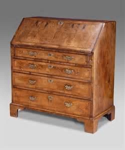 antique walnut bureau georgian bureau walnut desk