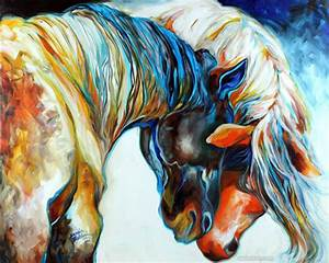 horse love painting marciabaldwin - preview