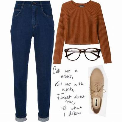 Outfits Bookworm Nerd Aesthetic Polyvore Outfit Clothes