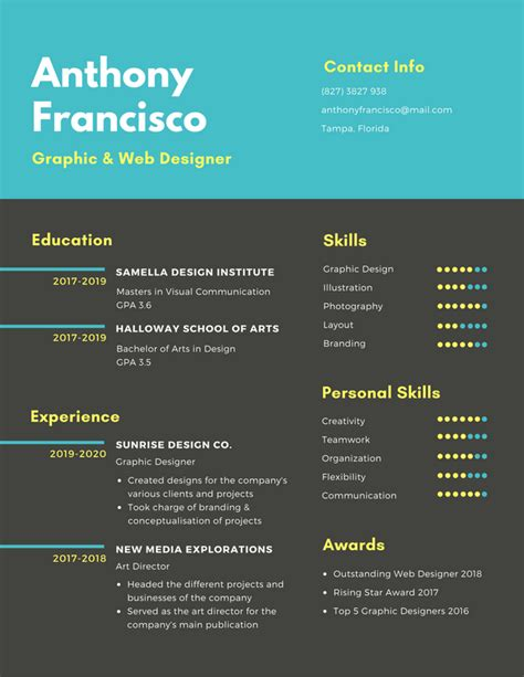 Infographic Resume Builder by Free Resume Builder Design Custom Resumes In Canva