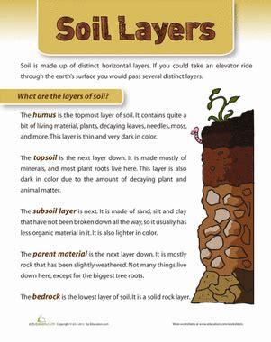 layers of soil worksheet education