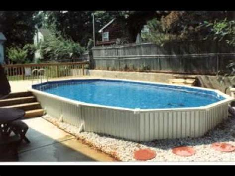 Above Ground Oval Swimming Pool Ideas Youtube