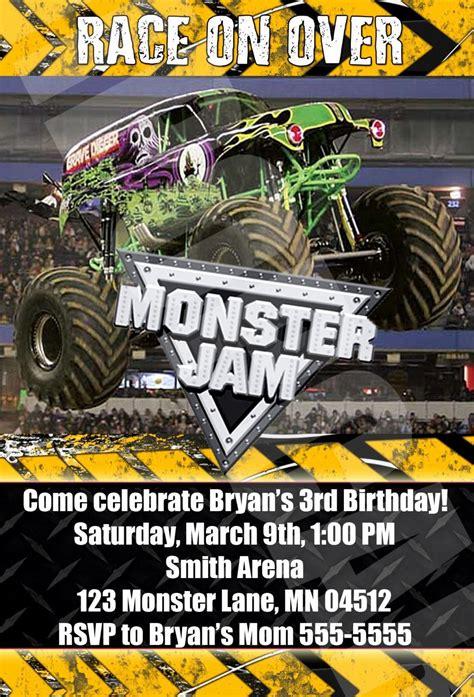 monster truck birthday invitation  printable