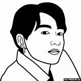 Jungkook Bts Coloring Pages sketch template