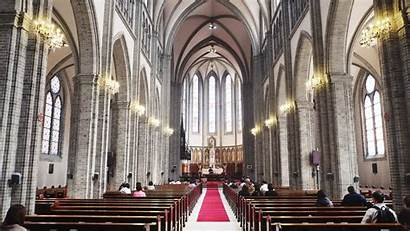 Myeongdong Cathedral Kr Seoul Church Ming Yeung