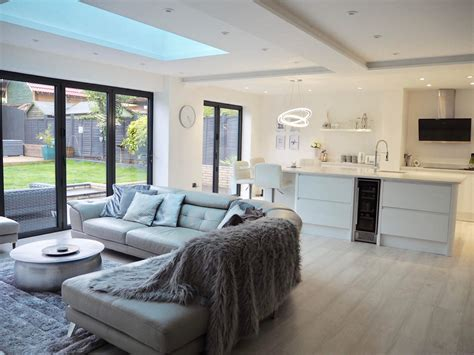 White-scandinavian-modern-living-room-open-plan-garden Two Bedroom Apartment New York City Small Vanities For Bedrooms Round Table 3 Apartments In Yonkers Raymour And Flanigan Furniture 2 Chicago Metal Dressers Cool Lighting