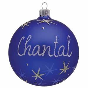 Boule De Noel Personnalisee : boule de no l en verre bleue personnalis e avec pr nom ~ Carolinahurricanesstore.com Idées de Décoration