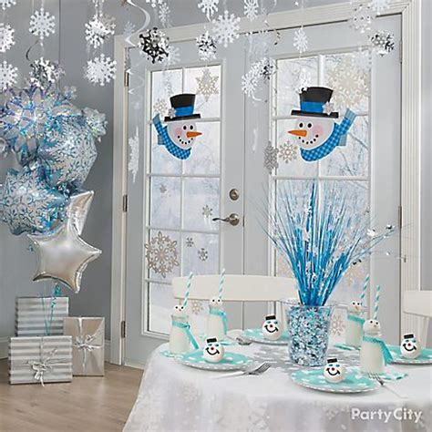 snowman themed winter party ideas party city