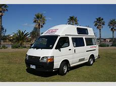 Toyota Hiace Hi Top Campervans for Sale at Travellers Autobarn
