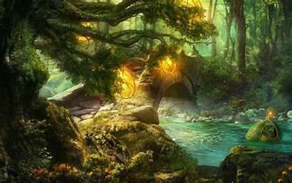 Fairy Forest Fairytale Tale Bridge Stone Wallpapers