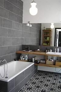 Deco Salle De Bain Gris : deco salle de bain bois et gris ~ Farleysfitness.com Idées de Décoration