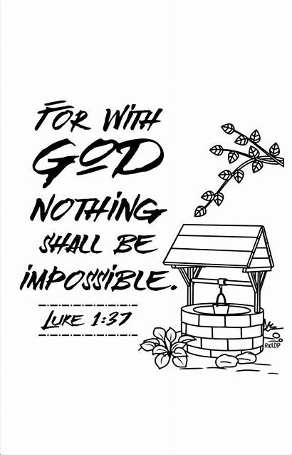 Bible Verses Nothing Impossible Coloring Verse Pages