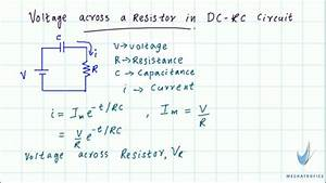 Voltage across a resistor in DC RC circuit - YouTube
