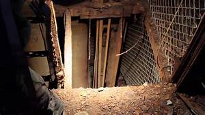 Water down an elevator mine shaft. - YouTube