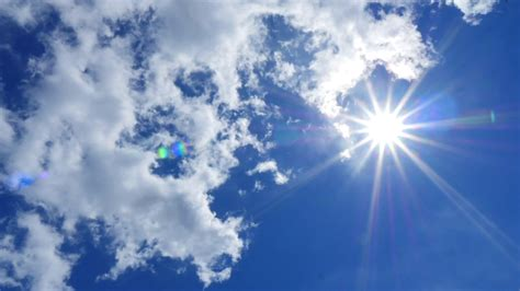 Clouds In The Sky With Sun Time-lapse Stock Video Footage