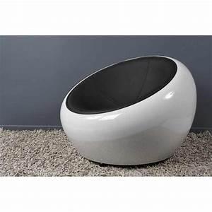 Fauteuil Design Blanc : fauteuil design bubble noir et blanc ~ Teatrodelosmanantiales.com Idées de Décoration
