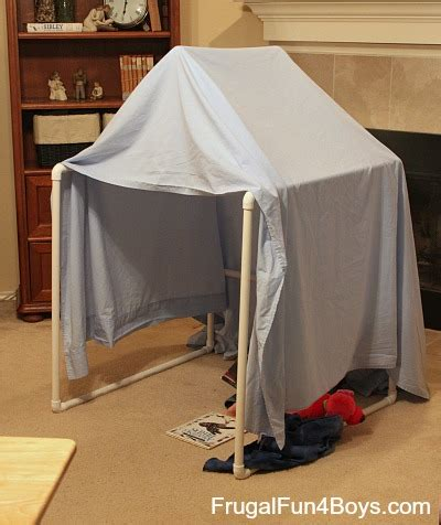 how to make a canopy with pvc pipe build a pvc pipe play tent fort frugal for boys and