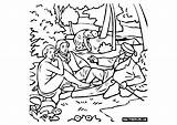 Manet Coloring Children Pages Edouard sketch template
