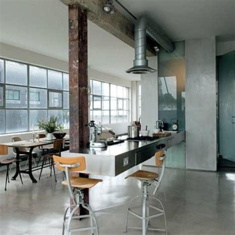 hotte cuisine sans conduit cuisine industrielle 35 exemples décos aussi inspirants que déroutants moderne house 1001